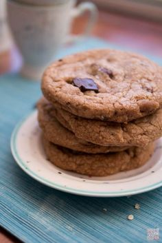 milk chocolate chip cookies with brown butter via desserts first
