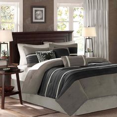Have to have it. Madison Park Palmer Dakota 7 Piece Comforter Set - $129.99 @hayneedle