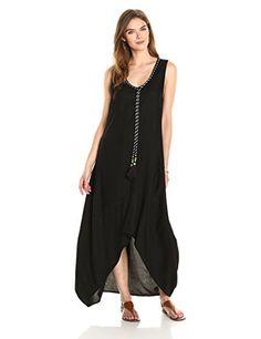 9507c5e604 Ella Moon Women s Kaleia Sleeveless Asymmetric Tassel Maxi Dress at Amazon  Women s Clothing store  Price