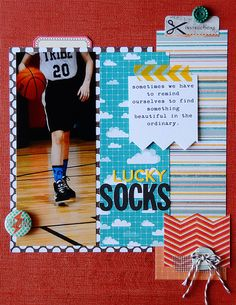 8.5x11 layout about my son's superstitions and lucky socks created by Suzanna Lee