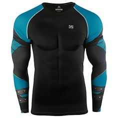 Mens Compression Fitness Long Sleeves T Shirts Base Layer Skin Tight Tee Athletic Outfits, Sport Outfits, Athletic Clothes, Girl Outfits, Mens Compression Pants, Lycra Men, Men's Coats And Jackets, Outdoor Outfit, Mens Fitness