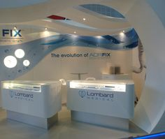 Light box examples for stands Exhibition Stall, Exhibition Stand Design, Museum Exhibition, Expo Stand, Reception Counter, Medical Design, Point Of Purchase, Booth Design, Retail Design