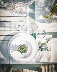 A shot from above of a place setting.