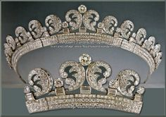 UK | Cartier halo scroll tiara, worn by the Duchess of Cambridge at her wedding to Prince William
