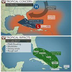 #شبكة_أجواء : تحذير من تعرض #البهاما و #فلوريدا للعاصفة المدارية  #هيرمن