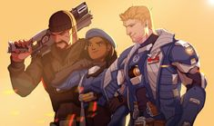 Overwatch Ana and soldier 76 /Jack and reaper /Gabriel Overwatch Reaper, Overwatch Fan Art, Jack Morrison, Overwatch Drawings, Soldier 76, Widowmaker, Team Fortress 2, Ship Art, Videos