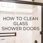 I have two great tips for how to clean glass shower doors. All you'll need to get the doors sparkly clean are a pair of old pantyhose and a Magic Eraser! House Cleaning Tips, Deep Cleaning, Spring Cleaning, Cleaning Hacks, Cleaning Wipes, Yellow Front Doors, Front Door Colors, Window Glass, Window Hanging
