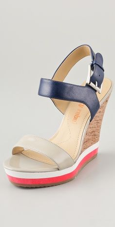 red and blue wedges