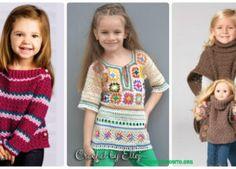 Crochet Kids Sweater Tops Free Patterns Instructions