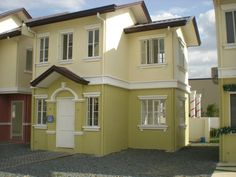 philippine exterior color for box type house - Google Search Finance Bank, Types Of Houses, Garage House, Car Garage, Exterior Colors, House Colors, Dining Area, Shed, Outdoor Structures