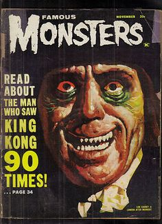 Famous Monsters of Filmland # 20 / LON CHANEY in London after Midnight.