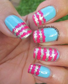 Ruffle French Tip Manicure