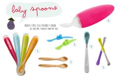 Awesome baby spoons. Love the Boon one <3