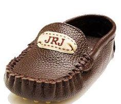 Little boy monogrammed loafers