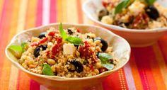Receita light e funcional: cuscuz de quinoa com castanhas title=