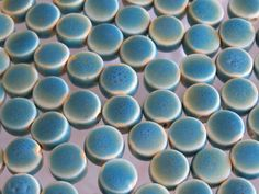 8x5mm 2mm hole Opaque Antiqued Blue Green by beadsandbabble