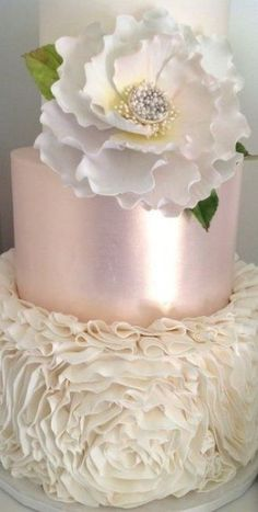 Beautiful Wedding Cakes, Gorgeous Cakes, Pretty Cakes, Amazing Cakes, Fondant Cakes, Cupcake Cakes, Shoe Cakes, Ruffle Cake, Ruffles