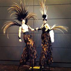 Feather Stilts Stilt Costume, Masks Art, Walkabout, Masquerade Ball, Mardi Gras, Storytelling, Whimsical, Carnival, Costumes
