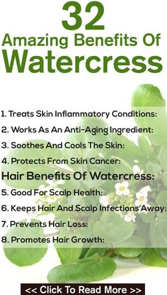 "Boasted as ""better than Kale.""  Pinner says~ A beautiful, healthy skin—now that's what we all want, don't we? Well, watercress offers an effective way to get the skin of your dreams. Here's how"