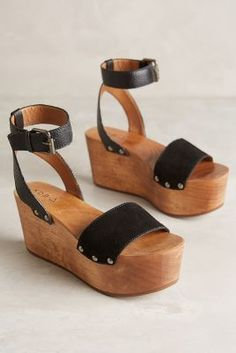 Kelsi Dagger Willow Wedges Black #anthrofave