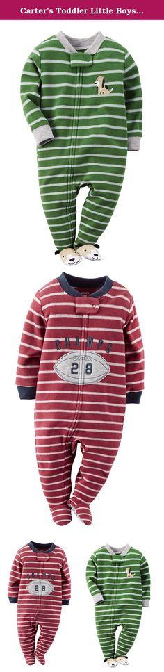 Carter's Baby Boys 1 Pc Fleece Footed Pajamas (2T, Blue Fair Isle ...