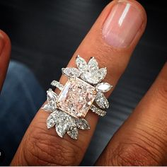 "3,746 Likes, 80 Comments - J E W E L R Y J O U R N A L❤️ (@jewelryjournal) on Instagram: ""4.5 cts @steindiamonds fancy pink diamond beautifully surrounded by marquise available at…"""