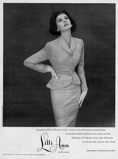 Lilli Ann 1953, model Suzy Parker, photo by Richard Avedon