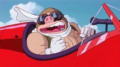 【ジブリ】大笑いするポルコ紅の豚GIF画像 created by GIF画像まとめ