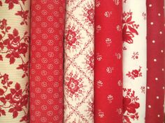 Midwinter Reds Half Yard Fabric Bundle  by QuiltsFabricandmore, $