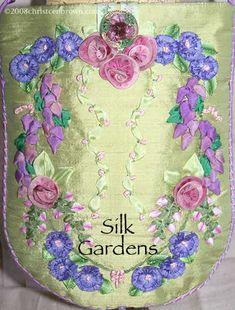 Silk Gardens Purse: silk ribbon embroidery and ribbon work purse | Christen's Creations