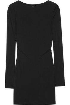T by Alexander Wang Mesh-insert crepe-jersey mini dress