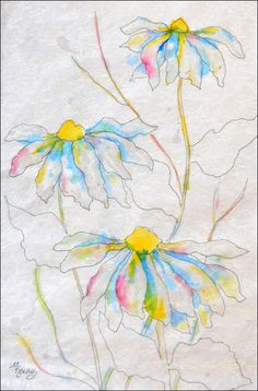 A lesson on Batik Watercolor.  Maybe, someday, I will try it.