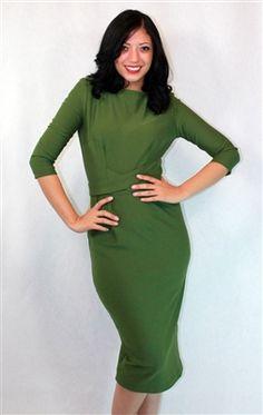 Tatyana Belt-Waist Knit Dress @voovoodress.com $138.00