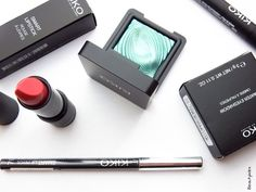 Kiko Cosmetics: A look at the regular line. I'm loving the shadow stick in Burgundy and Water Eyeshadow in Emerald Green!
