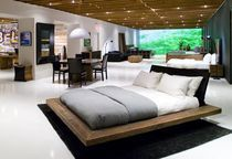 lit double contemporain en bois certifié (Eco-label FSC) SANTOS PLATFORM environment furniture