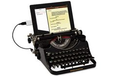 """USB """"Typewriter"""" keyboard~17 Weirdly Awesome Office Accessories #keyboards #gadgets #officesupplies"""