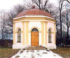 Former garden pavilion turned into chapel.  Haakhof in Kirchspiel Luggenhusen, Wierland (Aa mõis). Owners: Gustav II Adolf, Georg von Wangersheim, von Nascakin, von Gruenewaldt