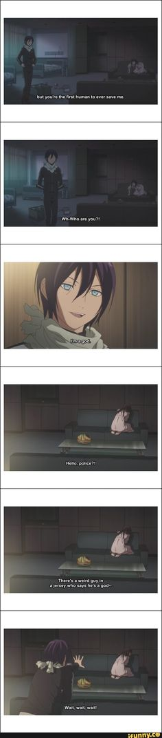 Loooool, this part was so hilarious | Yato and Hiyori first meet, hospital | Noragami