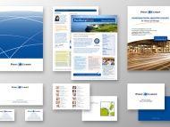 identité corporate de PostEurop, l'association européenne des postes, par www.double-id.com