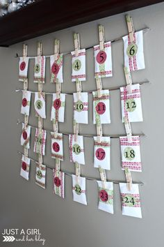 Our DIY Advent Calendar with FREE Printables with daily Bible verses by Just a Girl and Her Blog