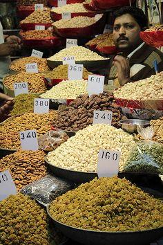 Delhi Market,dryfruits seller.