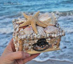 Seashell Jewelry Box Beach Style Seashell Box by MonaLisasSecret