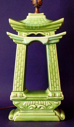 Royal Haeger Lamp Base by haegernerd, via Flickr--  squee!  Shiny glazed and chartreuse! Vintage Lamps, Vintage Pottery, Vintage Lighting, Vintage Antiques, Cool Lamps, Green Rooms, Mid Century House, Lamp Bases, Table Lamps