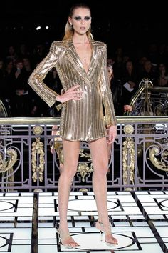 Atelier Versace Spring/Summer 2013 Couture Collection via Donatella Versace; modeled by Vika Falileeva [January 20, 2013 / Paris]
