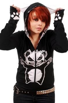 Killer Panda - Free Hugs Reversible Hoody