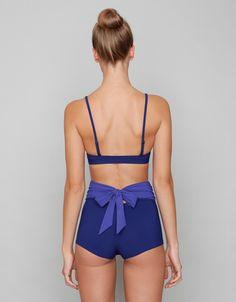 Karioka - Purple Highwaist Bikini Bottom