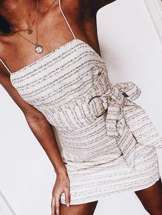 Striped mini dress.