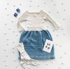 Let it snow kjole / let it snow dress pattern by ScandiKnit Let It Snow, Let It Be, Snow Dress, Holiday Dresses, The Dress, Baby Knitting, Merino Wool, Knitting Patterns, Princess