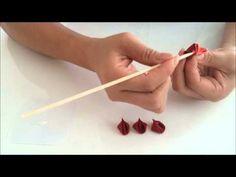 【つまみ細工】二重丸つまみの作り方 - YouTube