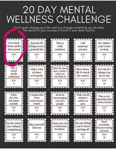 Daring Adventures in Midlife: 20 Day Mental Wellness Challenge activities 20 Day Mental Wellness Challenge